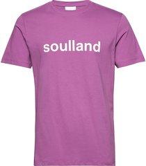 logic chuck t-shirt w.print t-shirts short-sleeved lila soulland