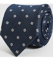reiss holborn - silk geometric tie in navy, mens