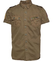 hybrid army corps light s/s shirt kortärmad skjorta grön superdry