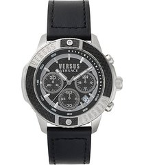 admiralty chronograph leather watch