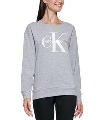 calvin klein logo graphic sweater