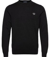 classic c/n jumper stickad tröja m. rund krage svart fred perry
