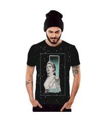 camiseta di nuevo mulher tatoo rock and roll preto