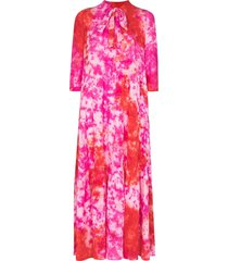 honorine tie-dye print flared dress - pink