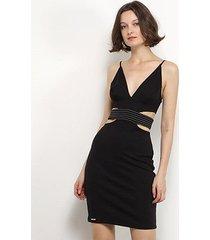 vestido colcci curto abertura & faixa cintura
