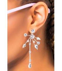 akira olive branch rhinestone earring