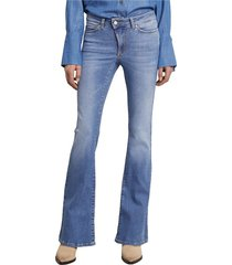matt flared denim jeans 2532