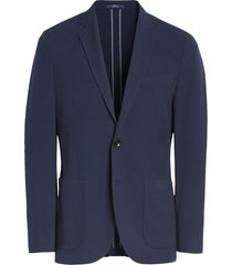 men's 1901 x-trim fit solid seersucker sport coat, size xx-large - blue
