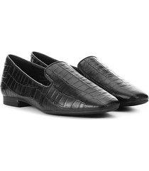 sapatilha couro bottero croco slipper feminina