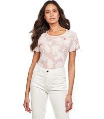 g-star d16268 c224 gyre allover t shirt and tank women pink