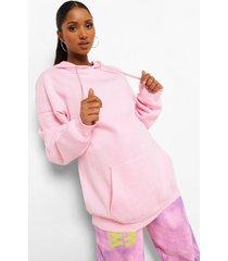 zwangerschap oversized hoodie met zakken, pale pink
