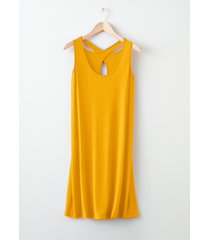 abito con spalline incrociate (giallo) - rainbow
