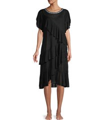 volare ruffled midi cover-up