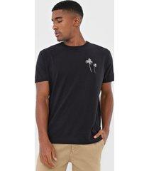 camiseta osklen vintage coqueiro preta