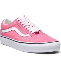 ua old skool låga sneakers rosa vans
