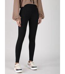 calça legging feminina cintura média preta
