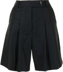 anna quan ethan high-rise tailored shorts - black