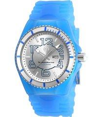 reloj technomarine tm-1151kg azul silicona