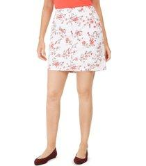 karen scott petite sharon floral-print skort, created for macy's