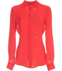 dsquared2 silk fitted shirt