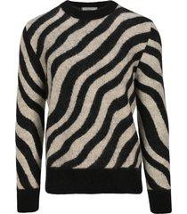 ami zebra striped sweater