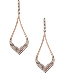 effy women's diamond and 14k rose gold dangle earrings, 0.33 tcw