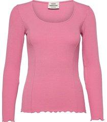 2x2 eco viscose taluna t-shirts & tops long-sleeved roze mads nørgaard