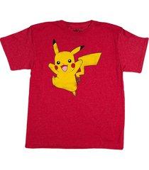 camisa bs-67186 pikachu basic rojo