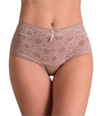 calcinha vip lingerie modeladora renda bege