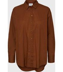 blusa vero moda burdeo - calce oversize