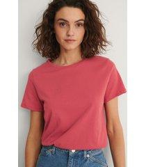 na-kd basic bas-t-shirt - red