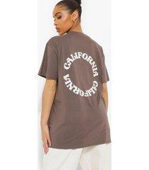 oversized t-shirt met rugopdruk, charcoal
