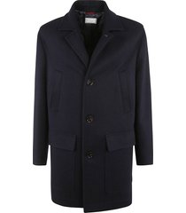 brunello cucinelli classic buttoned short coat