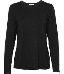 18 the modal blouse stickad tröja svart denim hunter