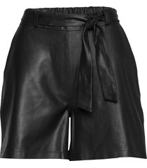 shorts w/belt shorts leather shorts svart depeche