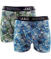 j&c heren boxer 2 pak 30057-l