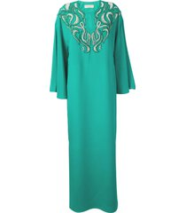 emilio pucci jade green embellished evening dress