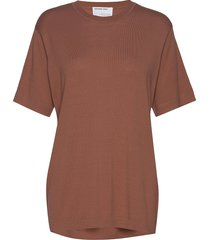 boyfriend fit knit t-shirt t-shirts & tops short-sleeved brun designers, remix