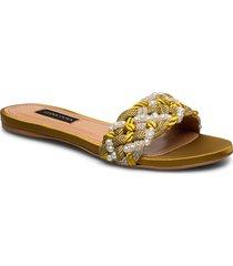 alaia, 888 alaia sandal shoes summer shoes flat sandals guld stine goya
