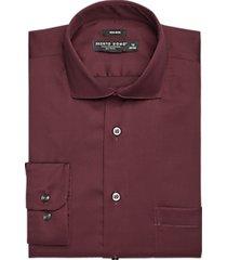 pronto uomo wine dress shirt