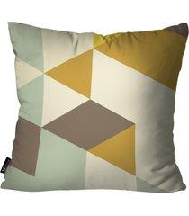 almofada abstrato mdecore amarela 35x35