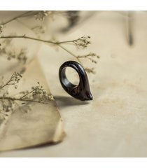 pierścionek z drewna wenge