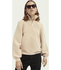 scotch & soda structured volume sleeve sweater