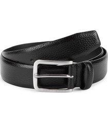 boss hugo boss men's textured leather belt - black - size 30