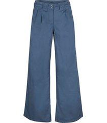 pantaloni a palazzo in twill (blu) - bpc bonprix collection