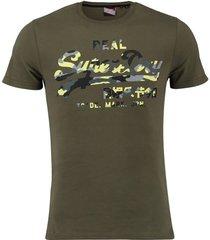 t-shirt infill donkergroen
