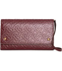 burberry monogram mini wallet bag - red