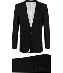 dsquared2 black single-breasted two-piece suit