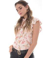 blusa para mujer en chalis multicolor