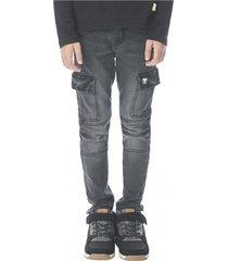 jeans cargo negro denim corona